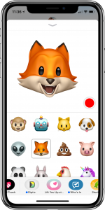 iMessage Animoji screenshot